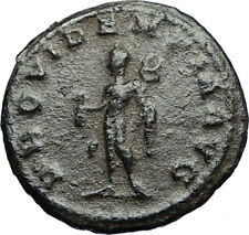 GALLIENUS Authentic Ancient 265AD Antioch Roman Coin w MERCURY MONEY GOD i67358