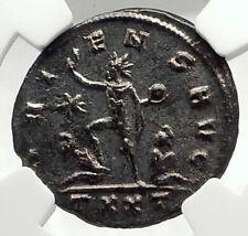 AURELIAN Authentic Ancient 270AD Genuine Roman Coin SOL CAPTIVE NGC i76292