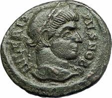 CRISPUS Caesar Constantine the Great son 321AD Ancient Roiman Coin WREATH i76687