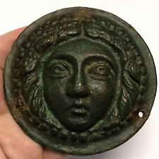 100BC Authentic Ancient Roman MEDUSA GORGON likely for ARMOR Artifact i66776
