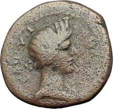 PERGAMON in Mysia 40AD Authentic Ancient Greek Coin ROMAN SENATE & ROMA i64350
