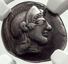 PHARSALOS THESSALY Authentic Ancient 450BC Silver Greek Coin ATHENA NGC i68168