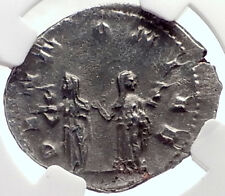 TRAJAN DECIUS Authentic Ancient Silver Roman 250AD Rome Coin PANNONIA NGC i70151