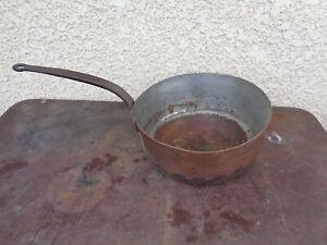 cuivre casserole ancien dans casseroles