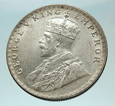 1916 INDIA UK King George V Silver Antique RUPEE Vintage Indian Coin i76552