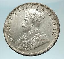 1916 INDIA UK King George V Silver Antique RUPEE Vintage Indian Coin i76552
