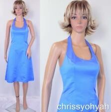 davids bridal blue   eBay Davids Bridal Cornflower Blue Halter Bridesmaid Prom Cocktail Dress  81594  NWT 2