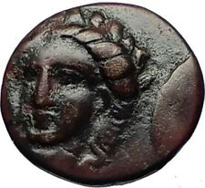 GRYNION or Gyrneion Aeolis 306BC Apollo Shell RARE Ancient Greek Coin i69484