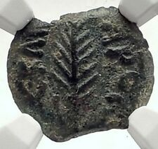 Biblical Jerusalem Saint Paul NERO PORCIUS FESTUS Ancient Roman Coin NGC i70963