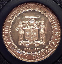 1972 JAMAICA 10th Independence Anniversary GOLD Coin in PRESENTATION Case i70695