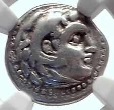 ALEXANDER III the Great 323BC Authentic Ancient Silver Greek Coin  NGC i72075