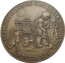 1971 APOLLO 14 XIV USA NASA Moon Landing Commemorative MEDAL w ASTRONAUTS i66978