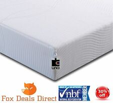 Ley Uno Vitality Cool Memory Foam Mattress 4ft 6 Double 10 Year Guarantee