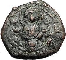 JESUS CHRIST w VIRGIN Class K Anonymous 1st CRUSADE Byzantine Follis Coin i67762