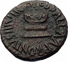 AUGUSTUS Authentic Ancient 5BC Rome Genuine Roman Quadrans Coin ALTAR SC i71753