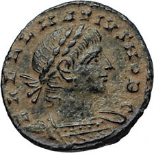 DELMATIUS 335AD Alexandria Authentic Ancient Roman Coin LEGION SOLDIERS i67023