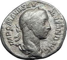 SEVERUS ALEXANDER 226AD Silver Genuine Ancient  Roman Coin ANNONA Wealth i69852