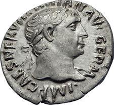 TRAJAN  101AD Rome Authentic Genuine Ancient Silver Roman Coin Hercules i70342