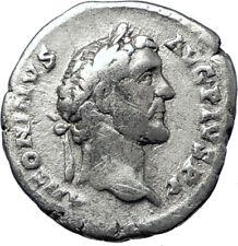 ANTONINUS PIUS 139AD Authentic Ancient Silver Roman Coin Fortuna i70384