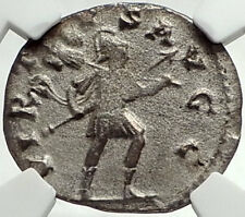 GALLIENUS Authentic Ancient Genuine 253AD Rome Roman Coin w MARS NGC  i68546