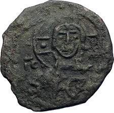 CRUSADERS Antioch Tancred Ancient 1101AD Byzantine Time Coin CHRIST CROSS i73507