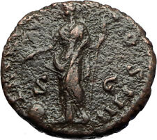 ANTONINUS PIUS 155AD Rome Authentic Ancient Roman Coin PROVIDENTIA i69646
