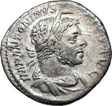 ELAGABALUS sacrificing 221AD Rome Authentic Ancient Silver Roman Coin i73554