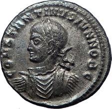CONSTANTINE II Constantine I son 320AD Ancient Roman Coin Vexillum i73453