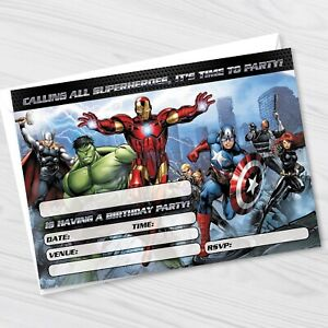 avengers party invitations for sale ebay