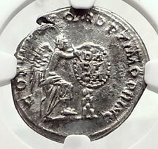 TRAJAN 111AD Rome Authentic Ancient Silver Roman Coin Victory NGC i72637