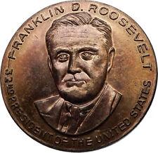 FRANKLIN DELANO ROOSEVELT United States USA President MEDAL w US Capitol i66983