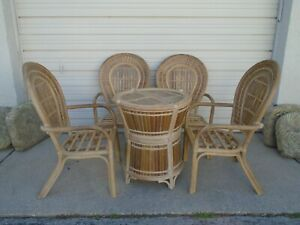 wicker patio dining chairs for sale