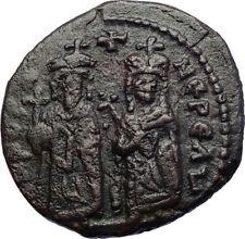 PHOCAS & LEONTINA 603AD Quality Authentic  Medieval Byzantine Coin  i73436