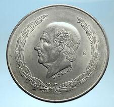 1953 MEXICO Mexican Independence War Hero HIDALGO on Big 4cm Silver Coin i77499