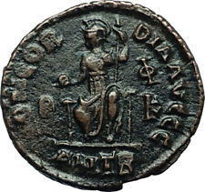 VALENTINIAN II 378AD Antioch Authentic Ancient Roman Coin Rome as Roma i66466
