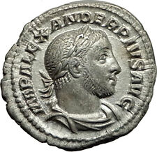 SEVERUS ALEXANDER 231AD Authentic Ancient Silver Roman Coin SPES Hope i65412