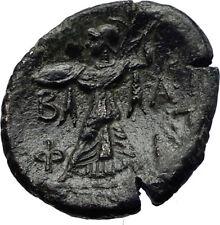 PHILIP V Original Ancient 200BC RARE R1 Macedonia Greek Coin ZEUS ATHENA i69202