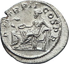 SEVERUS ALEXANDER 223AD Genuine Ancient Silver Roman Coin SALUS Health i73570