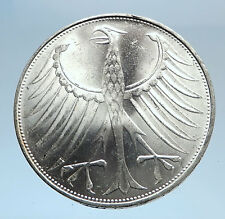 1974 GERMANY Large 5 Mark Silver Vintage Authentic Eagle German Coin i74077