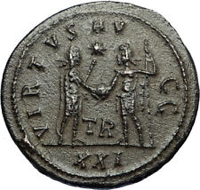 CARINUS Authentic Ancient 283AD Roman Coin JUPITER VICTORY Tripolis i67425