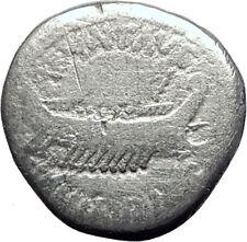 MARK ANTONY Cleopatra Lover 32BC Authentic Ancient Silver Roman Coin SHIP i64506