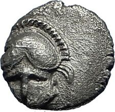 MESEMBRIA Thrace 400BC Crested CORINTHIAN Helmet Silver Ancient Coin i69854