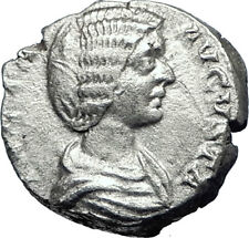 JULIA DOMNA Caracalla & Geta mother 209AD Silver Ancient Roman Coin JUNO i70069