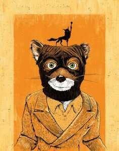 fantastic mr fox in art posters for