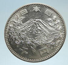 1964 JAPAN Tokyo Summer Olympic Games 3.5cm Silver Japanese MT FUJI Coin i75329