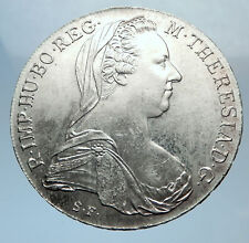 1780-1960 Maria Theresa Austria Germany Queen Silver Thaler Large Coin i72030