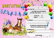 carte invitation anniversaire chevaux