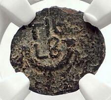 VALERIUS GRATUS 15AD TIBERIUS Prefect Roman Jerusalem Biblical Coin NGC i70837