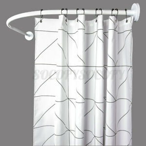 l shaped shower curtain rods for sale