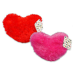 plush heart in home decor pillows for